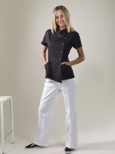 Java - Black Spa Uniform Top