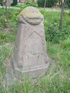 Hellfire Corner, Menin Road, Ypres.  Demarcation stone.