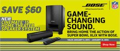 Save $60 on the NEW #Bose Cinemate Home Theater Speaker System... Game Changing Sound!