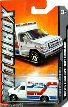 2008 Ford E-350 Ambulance Matchbox 2011 Collection FIRST RESPONSE White