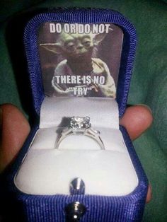 Ignore the tacky Star Wars reference, but the ring itself I actually like.