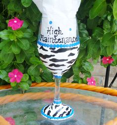 Hey, I found this really awesome Etsy listing at https://www.etsy.com/listing/78803904/painted-wine-glasses-funny-sayings-blue