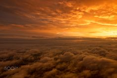 Sunrise in the clouds - Sunrise over the Poland on the early morning flight.