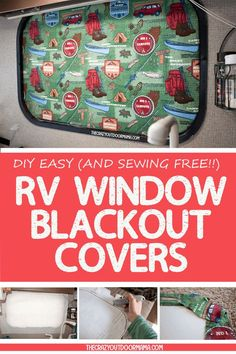 How to DIY RV BlackOut Window Covers for Your RV or Camper (NO SEWING Involved!) Make these DIY RV Blackout window covers so that you can have a relaxing afternoon nap in your camper (and help keep it cooler too! Camping Must Haves, Rv Camping Tips, Travel Trailer Camping, Family Camping, Camping Products, Outdoor Camping, Camping Stuff, Camping Hammock, Camping Supplies