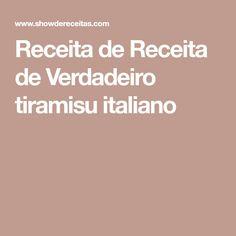 Receita de Receita de Verdadeiro tiramisu italiano