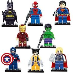 8 Marvel Avengers  Free Thor Air Glider Building Blocks Superheroes Mini Figures @ niftywarehouse.com