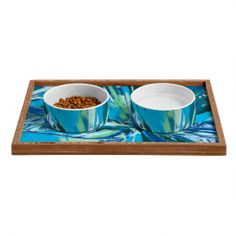 Rosie Brown Bursting Bromeliad Pet Bowl and Tray | DENY Designs Home Accessories $23