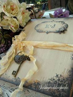 Custom wedding Guest book by http://www.etsy.com/shop/etsychicuk ...