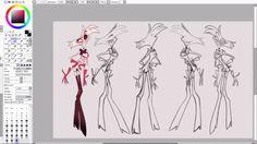 Vivziepop Livestream - Angel Ref Sheet Sketches