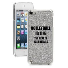 http://www.ebay.com/itm/Silver-GLITTER-Bling-Apple-iPod-Touch-5th-Hard-Case-Volleyball-Is-Life-/330966174821?pt=US_MP3_Player_Cases_Covers_Skinshash=item4d0f1f0c65
