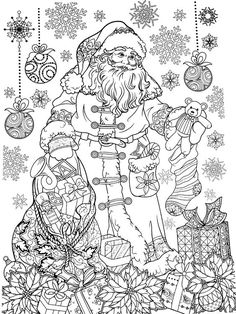 New Year coloring pages, Christmas coloring pages New Year Coloring Pages, Detailed Coloring Pages, Halloween Coloring Pages, Christmas Coloring Pages, Colouring Pages, Coloring Books, Coloring Sheets, Free Adult Coloring, Printable Adult Coloring Pages