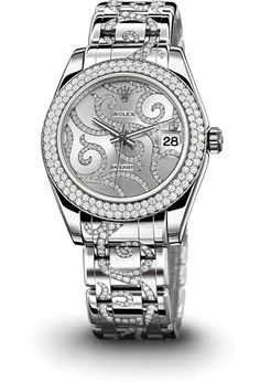 ROLEX 18 ct white gold / diamonds
