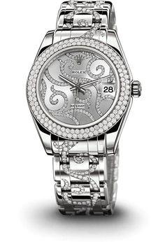 ROLEX 18 ct white gold / diamonds