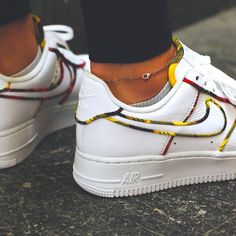 Nike Air Force 1 Low Tartan White University Red-Amarillo Clean White  Leather 1eaa2d87b