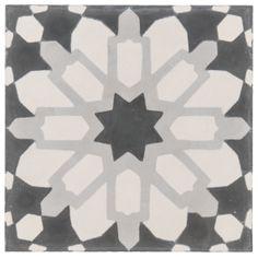 "ANN SACKS Eastern Promise by @Marty McPadden Newman Lawrence Bullard 7-7/8"" x 7-7/8"" marrakesh concrete field in palazzo"