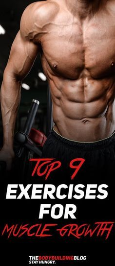 Check out The Top 9 Exercises for Muscle Growth! #fitness #gym #muscle #exercise #workout