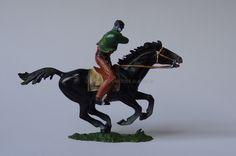 Hausser Elastolin ref : 7000 Bandit à cheval tirant avec sa carabine 3ème peinture