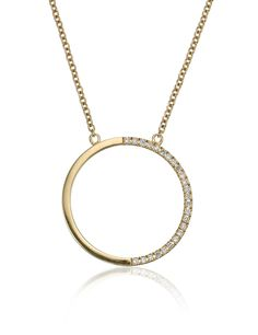 Gold Diamond Lunar Necklace   Geoffrey's   Avenue32