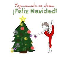 Que tengáis unas Felices Fiestas y disfrutéis de cualquier oportunidad de yoguinear 😉 ¡Feliz Navidad! Humor y yoga en español, Yoguineando.