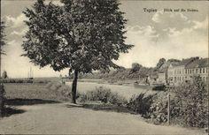 Ak Gwardeisk Tapiau Ostpreußen, Blick auf die Deime, Flusspartie - 1204385