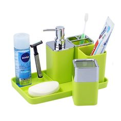 5pcs Plastic Bathroom Accessories Set! free shipping* Cash on Delivery. you can whatsapp us at +91-9300002732 for price or see more products.