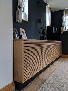Diy Interior, Home Interior Design, Modern Radiator Cover, Home Radiators, Diy Furniture, Furniture Design, Bespoke Furniture, Bespoke Kitchens, Diy Bedroom Decor