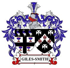 Your family COAT OF ARMS embroidered OR printed onto our great quality shirts.  Check out your COAT OF ARMS on our Website #giles-smith
