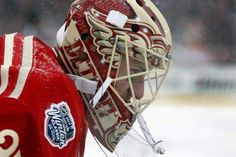 Detroit goalie Jimmy Howard during second period action of the Detroit Red  Wings and Toronto Maple Leafs game at the 2014 Bridgestone NHL Winter  Classic. b19c1166d