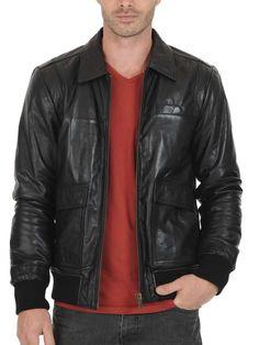 36d16df91c575 Christopher Men Leather jacket Lambskin Leather Jacket