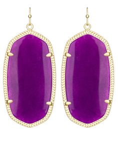 Kendra Scott Danielle earrings in purple jade