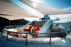 yacht top deck lounge