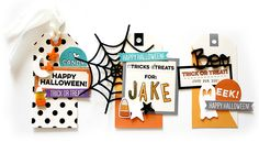 Halloween tags at Elle's Studio - simple to put together using their printables and cut files!