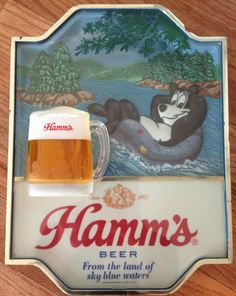 RARE Hamms Beer Sign Waterfall Bear Scene Lighted Display | eBay Best commercials ever