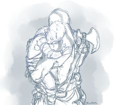 atreus and Kratos Gorillaz, Kratos God Of War, Norse Mythology, Bees Knees, Game Art, Fantasy Art, Art Tutorials, Video Games, Dads