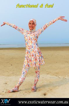Bubbles burkini! You can look smashing and have fun in a burkini! Only at www.exoticwaterwear.com.au FREE SHIPPING WORLDWIDE