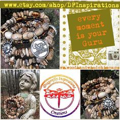 Live in the Moment: five wrap memory wire beaded by DFInspirations