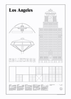 Los Angeles Elevations by Studio Esinam   Poster from theposterclub.com