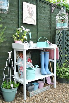 My potting bench by Torie Jayne