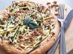 Pizza vegetariana con farina di soia