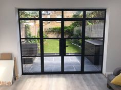 Aluminium steel replacement windows and doors give you all the benefits of modern double glazing with the look of old metal windows. Metal Windows, French Windows, French Doors Patio, Patio Doors, Cost Of French Doors, Antique Windows, Vintage Windows, Window Replacement Cost, Replacement Kitchen Doors