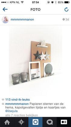 Looks like christmas! Papieren sterren van de hema. Kerstkaartje van Studio Ilse (ig: ilsejula)
