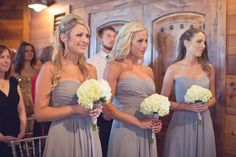 Bridesmaid dresses gray