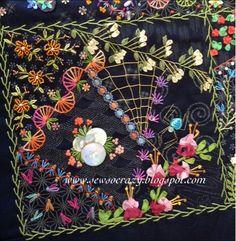 CRAZY QUILT EXAMPLE............PC...........Sew So Crazy!©: Colour, colour, colour - crazy quilting by Judith