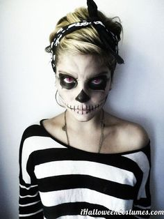 Awesome Halloween makeup Sojourns gothic cheerleader