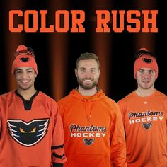 The Color Rush is on for the 2018 @theahl Outdoor Classic and you can wear what the players wear! Player's Collection Color Rush gear is now available in the online Phan Shop. Visit PhanShop.com to get yours today!  #LehighValley #Phantoms #AHL #LehighValleyPhantoms #LVPhantoms #IceHockey #Hockey #ColorRush #Orange #OutdoorClassic #AHLOutdoorClassic #Outdoor #PhiladelphiaFlyers #Flyers #Philadelphia