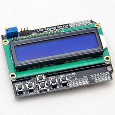 Lcd-scherm Voor Arduino 1602 Keypad Shield Module 16x2 5 V Blauw Backlight Met Wit Woord Display Voor ATMEGA328 ATMEGA2560 UNO