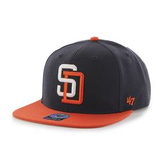 San Diego Padres Sure Shot Two Tone Captain Navy 47 Brand Adjustable Hat