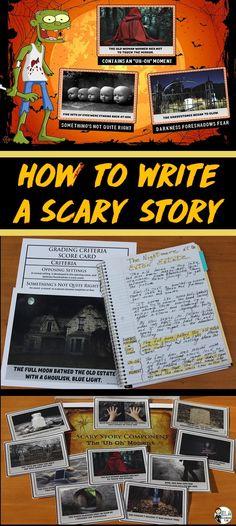 Spooky Story Writing - Halloween Writing Activity Grades 3-6 - halloween writing ideas