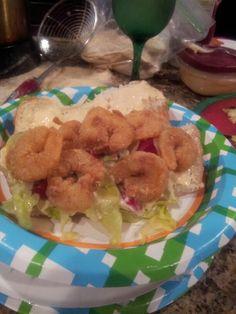 Shrimp poboy....it's what's for dinner! 05/09/13