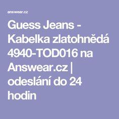 Guess Jeans - Kabelka zlatohnědá 4940-TOD016 na Answear.cz | odeslání do 24 hodin